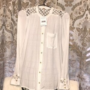 Free People oversized  cotton blouse
